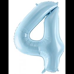 Folienballon Zahl 4 hellblau 86cm