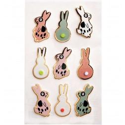 Sticker 3D Bunny hop 9 Stück