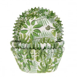 Baking Cups Leaves grün 50 Stück