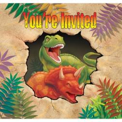 Dino - 8 Einladungskarten