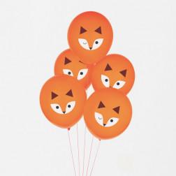 Luftballons Fuchs 5 Stück