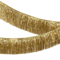 Gold Tinsel Fringe Garland 1,8m