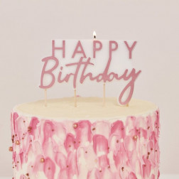 Kerze Rose Gold Happy Birthday