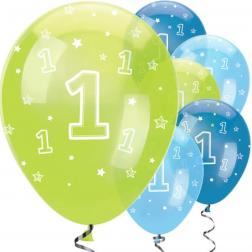 Luftballons 1st Bday Boy 6 Stück