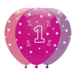 Luftballons 1st Bday Rosa 6 Stück