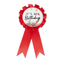 Birthday Badge red