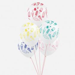 Luftballons ICE creme 5 Stück
