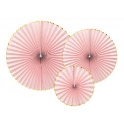 Fächer rosa 3 Stück