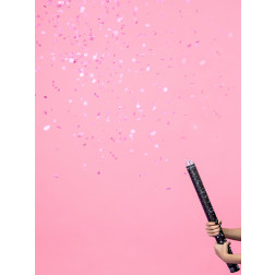 Gender reveal confetti cannon Ready to pop pink 60cm