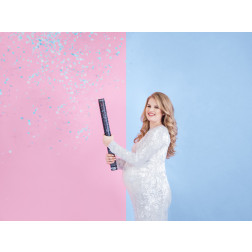 Confetti cannon Ready to pop blue 60cm