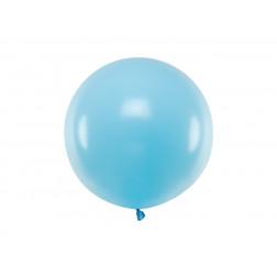Ballon Rund Pastell Blau 60cm