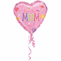 Folienballon Love You Mum 43cm