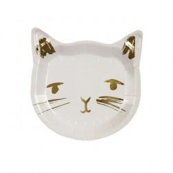 Pappteller Katze 8 Stück