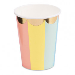 Pappbecher Pastel Colors 8 Stück