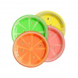 Pappteller Citrus 8 Stück