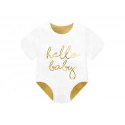 Servietten Baby romper Hello Baby 20 Stück
