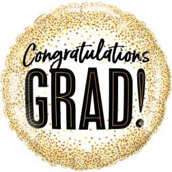 Folienballon Congratulations Grad 46cm