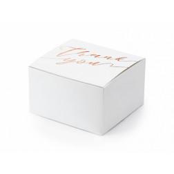 Boxes Thank you weiß rosegold 10 Stück