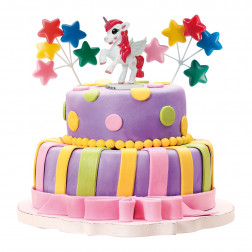 Cake Dekoration Unicorn Einhorn Set