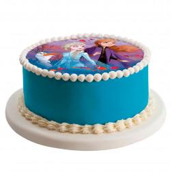 Tortenaufleger Disney Frozen II Anna, Elsa 20cm