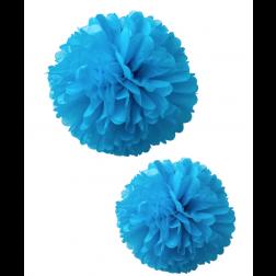Pom poms blau 2 Stück