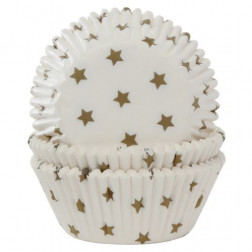 Baking Cups Sterne Gold 50 Stück