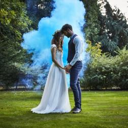 Rauchbombe Smoke Bomb blau 13cm