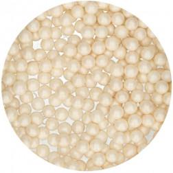 Zuckerperlen 7mm Glänzend Weiß 80g
