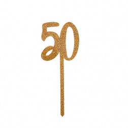 Cake Topper acryl 50 gold