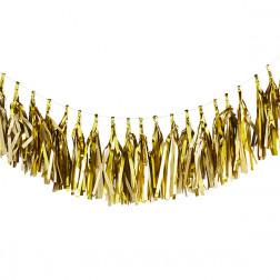 Quasten Girlande Gold 3m