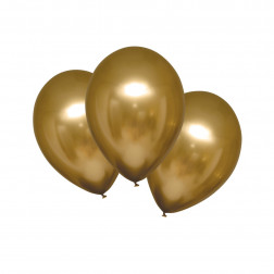 Luftballons Satin Luxe Gold 6 Stück