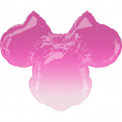 Minnie Maus Kopf ombre pink Folienballon 71cm