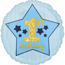 Folienballon 1st Birthday Boy 43cm