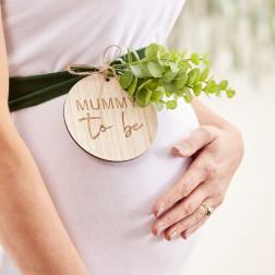 Mummy To Be Baby Shower Sash Wooden