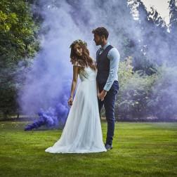 Purple Wedding Smoke Bomb 13cm