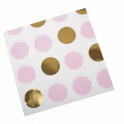 Servietten Pattern Works Pink Dots 16 Stück