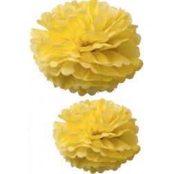 Pom Poms gelb 2 Stück 40/50cm