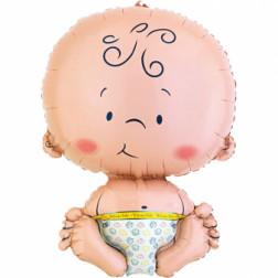 Folienballon Welcome Baby Figure 61cm