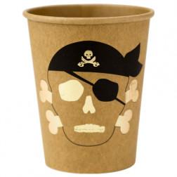 Pappbecher Pirat 8 Stück