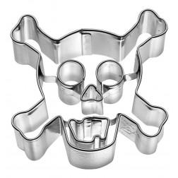 Ausstechform Totenkopf durchkreuzt mit Knochen 7,5cm