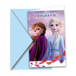 Frozen 2 Einladungskarten 6 Stück