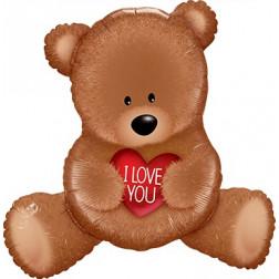Folienballon Teddy I LOVE YOU 89cm