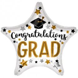 Folienballoon Congrats Grad Star 48cm