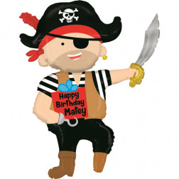 Folienballon Pirate Birthday Matey 112cm