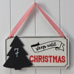 Festive Sleeps Until Christmas Chalkboard Sign