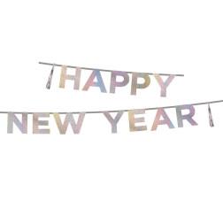 Girlande happy New Year iridescent 3m