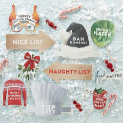 Photo Booth Novelty Christmas 10 Props