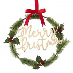 Merry Christmas Acrylic Gold Kranz