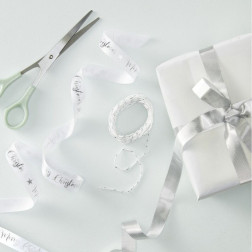 Merry Christmas Silver Ribbon Kit