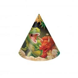 Dino - 8 Partyhüte